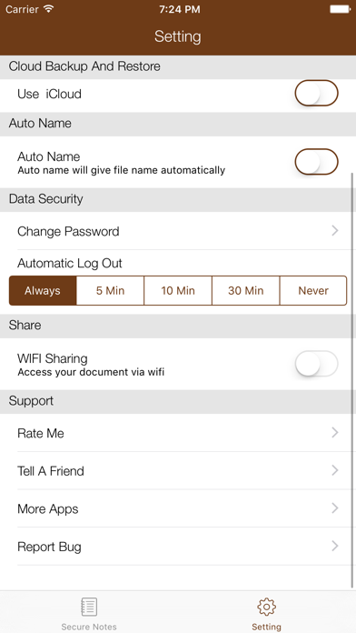 Secure Notes : Text Memo, Note 4