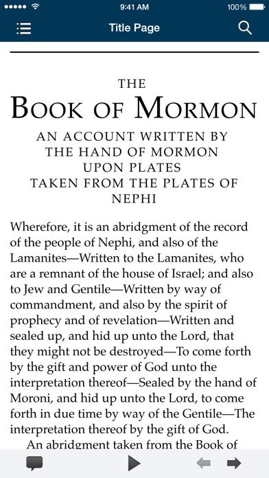 The Book of Mormon screenshot one