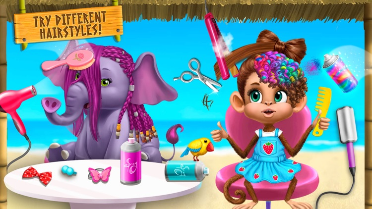Jungle Animal Hair Salon 2 screenshot-4