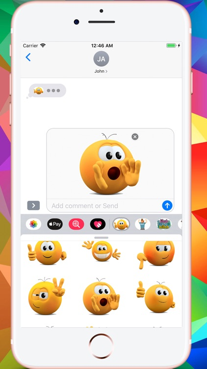 Kolobanga Sticker For iMessage screenshot-3