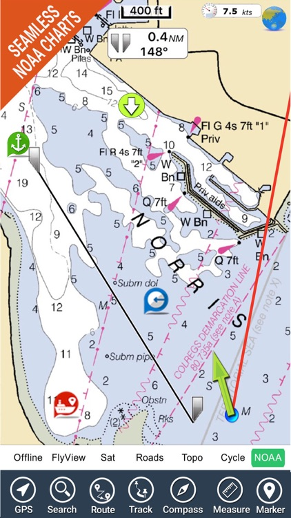 Florida Nautical Charts GPS HD screenshot-0