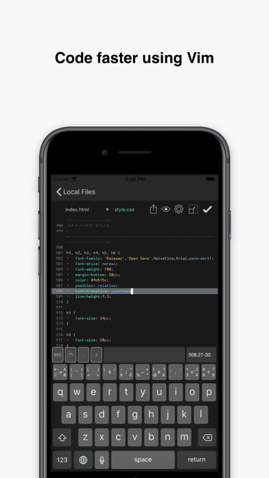 iTextEditors - iPhone and iPad text/code editors and writing tools
