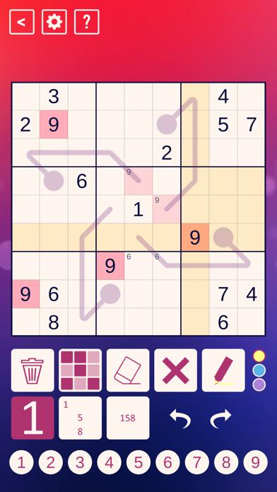 Thermo Sudoku screenshot 1