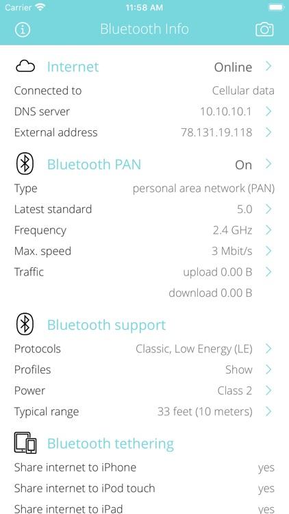 Bluetooth Info screenshot-0