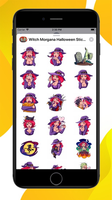 Screenshot for Witch Morgana Stickers in United States App Store