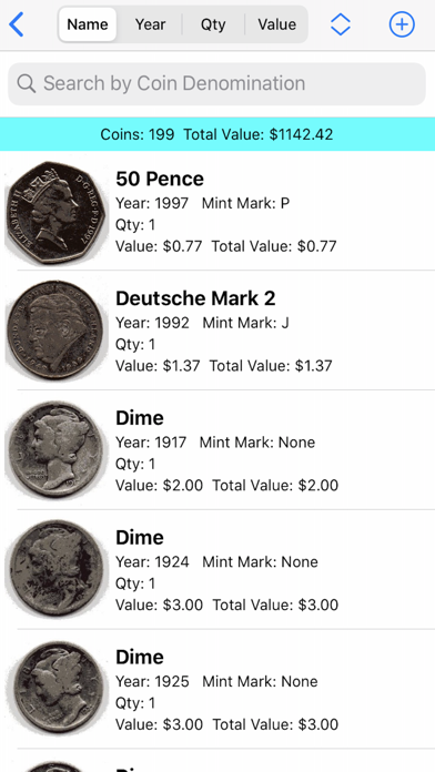 My Valuable Coin Collection Screenshots