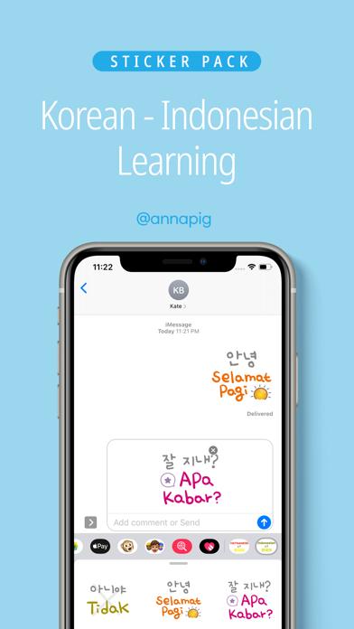 Korean Indonesian Learning screenshot 1