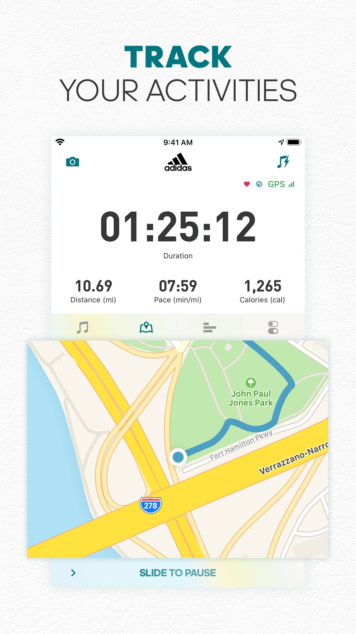 adidas Runtastic Running App Screenshot