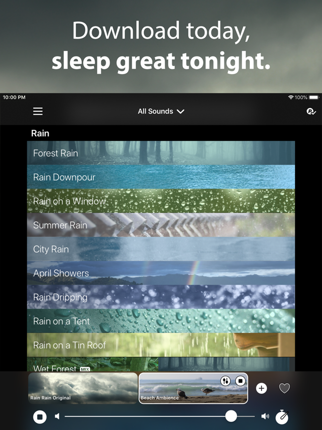 ‎Rain Rain Sleep Sounds Screenshot