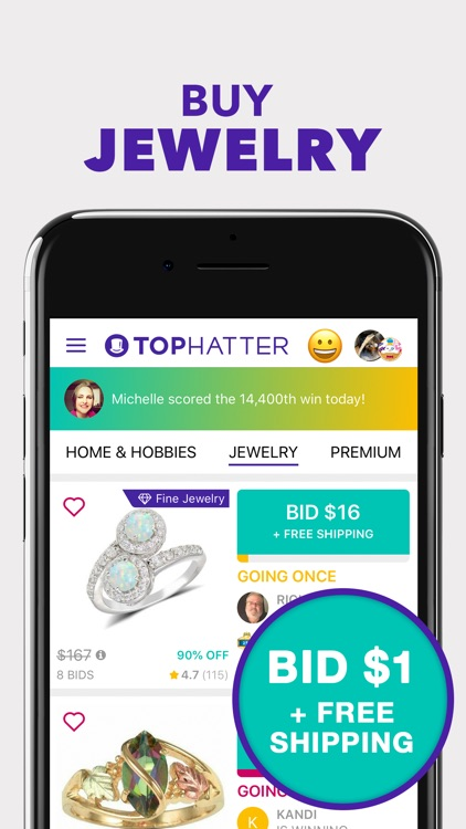 Tophatter: Win Fun Discounts