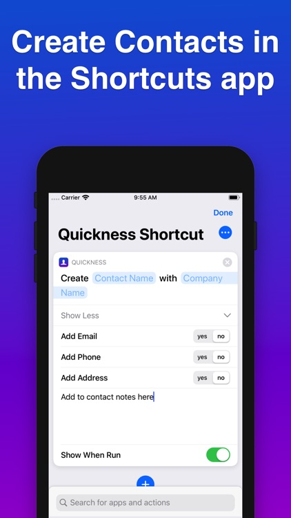 Quickness: Add Voice Contacts