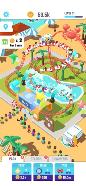 Idle Roller Coaster on the App Store