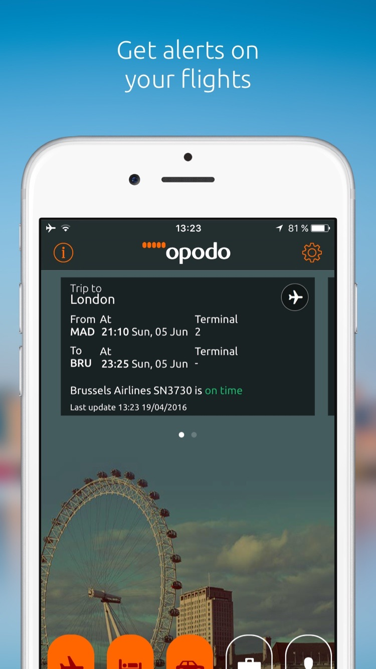 Opodo - Flights, Hotels & Cars Screenshot