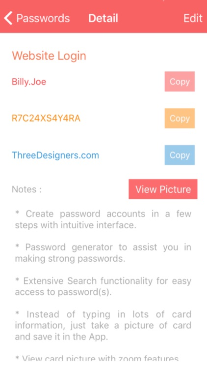 Password Privacy Organizer Pro screenshot-3