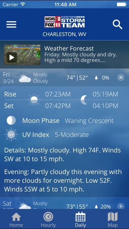 WCHS/Fox11 Stormteam Weather screenshot-3