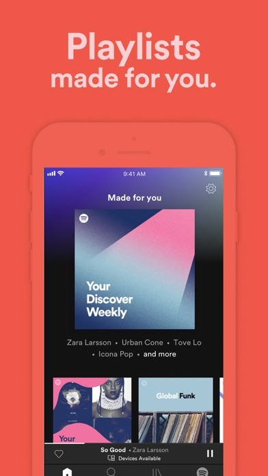 Screenshot of Spotify: Music and Podcasts App