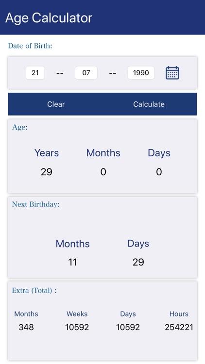 Age Calculator - Calculate age