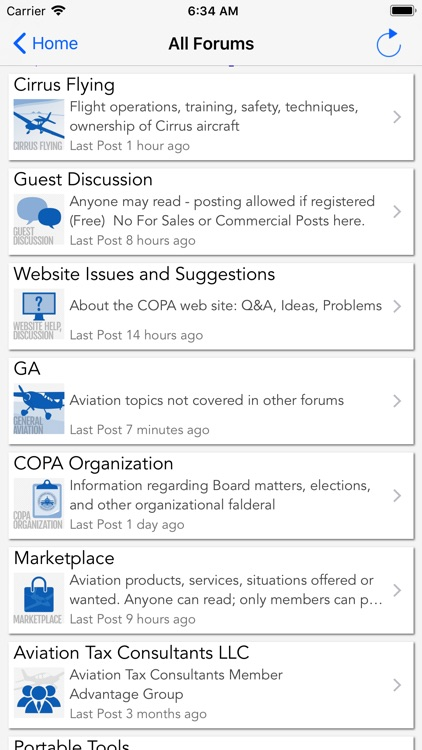 COPA Mobile Forum Reader