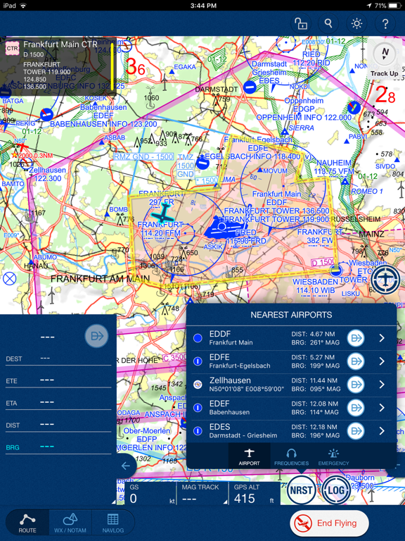 Jeppesen Mobile FliteDeck VFR screenshot four