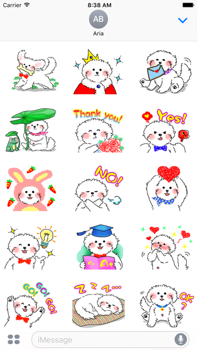 Cute Maltese Puppy Sticker screenshot 2