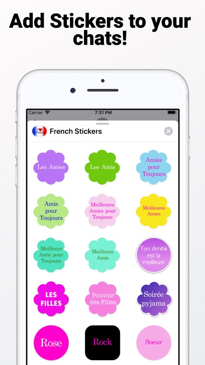 French Stickers for iMessage screenshot-3