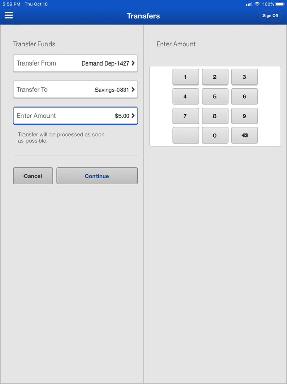Bank of Mingo for iPad