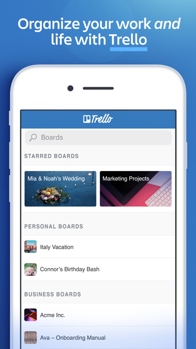 Trello — Organize anything! Screenshot on iOS