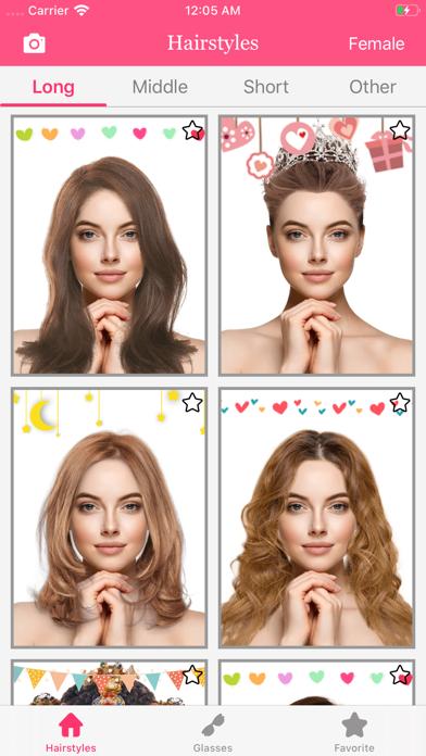 Hairstryle try on-Hair Salon screenshot #1