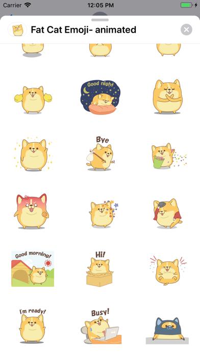 Fat Cat Emoji- animated screenshot 3