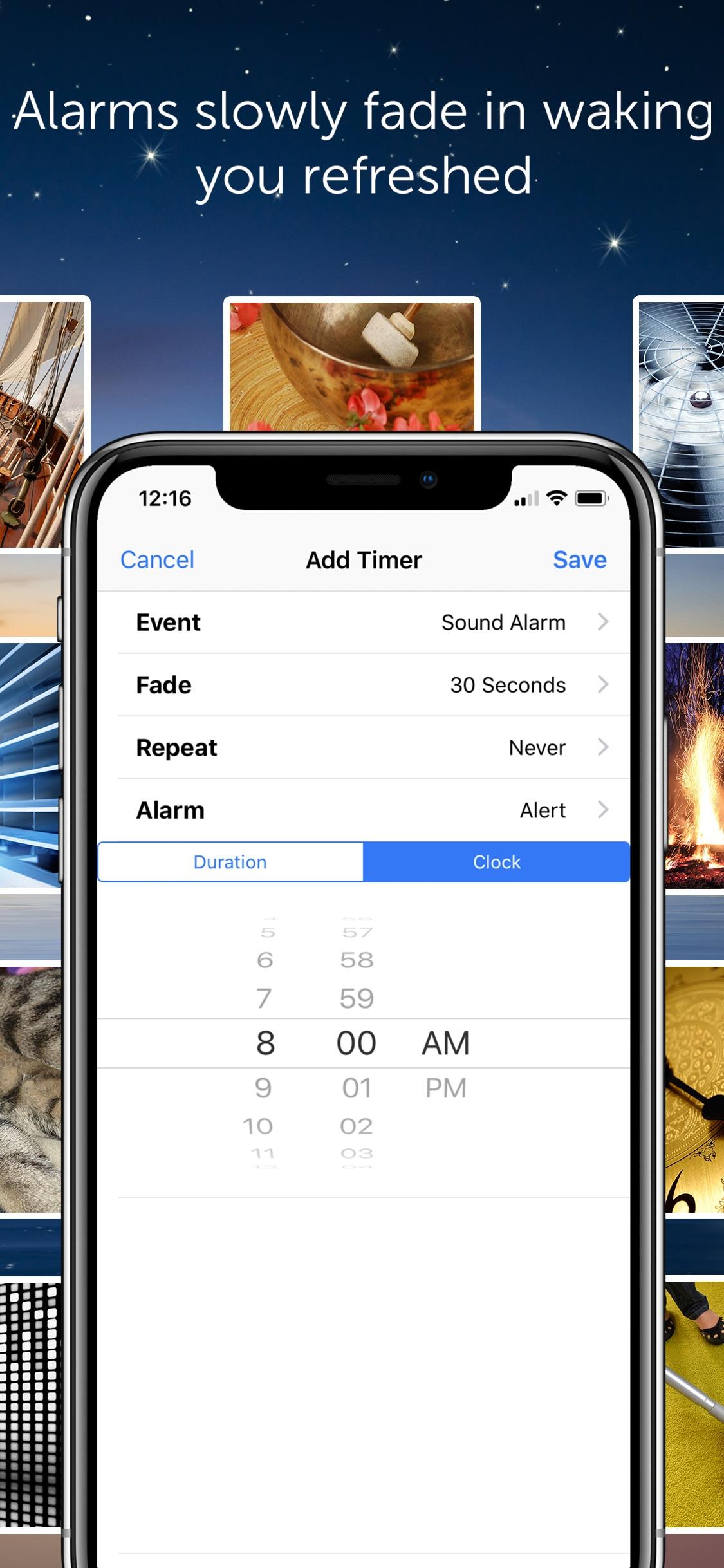 Screenshot do app White Noise