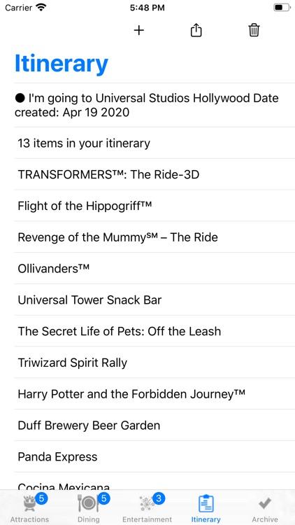 ThemePark Checklist: Hollywood screenshot-3
