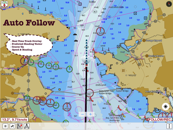 i-Boating: GPS Nautical / Marine Charts - offline sea, lake & river navigation maps for fishing & sailing screenshot
