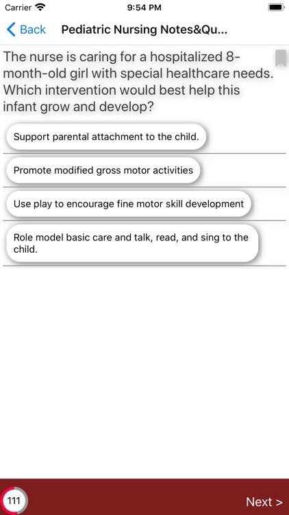 Pediatric Nursing Exam Review screenshot-7