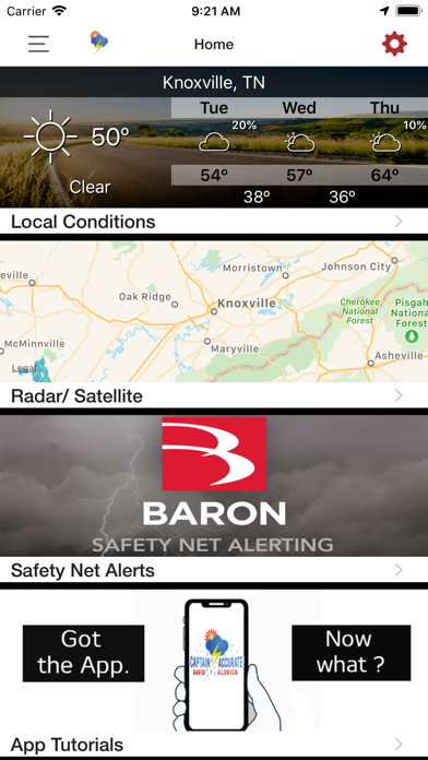 messages.download Captain Accurate Weather software