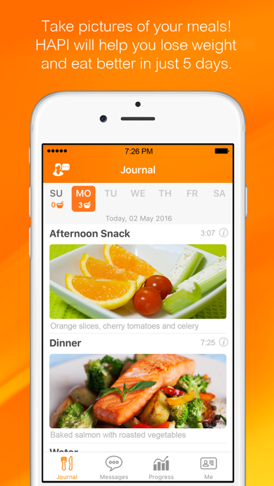 HAPI - Nutrition Coaching screenshot one