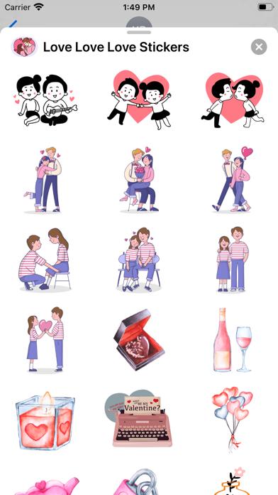 Love Love Love Stickers screenshot 2