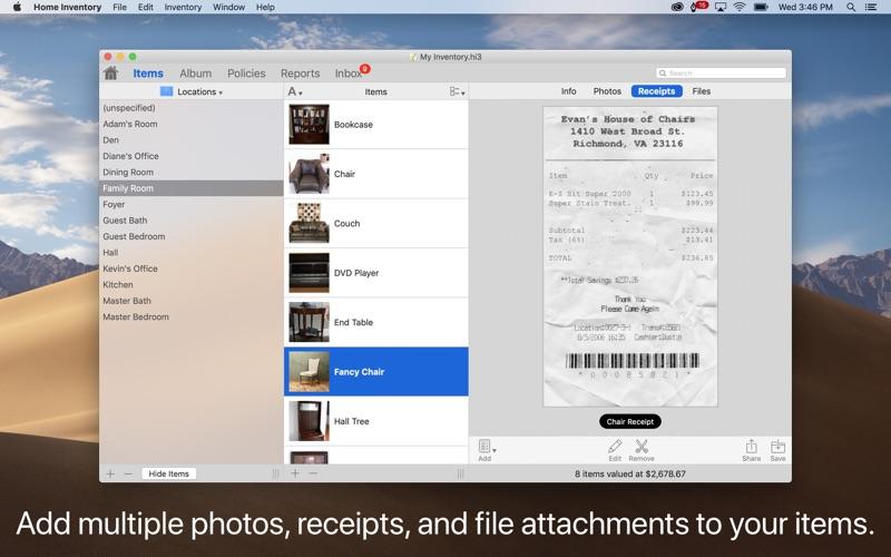 Home Inventory Screenshots