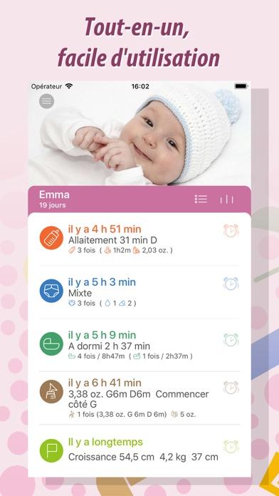 Screenshot #1 pour Baby Tracker - Bébé Suivi