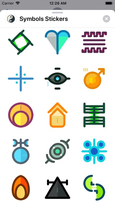 Screenshot for Symbols Stickers in United States App Store