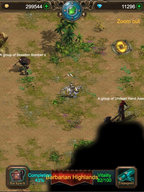 Ipad Screen Shot War of Heroes: Origin of Chaos 3