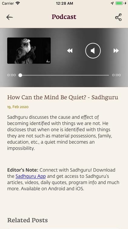 Sadhguru- Yoga & Meditation screenshot-3
