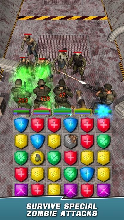 VDV Match 3 RPG: Zombies! screenshot-4