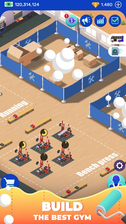 Idle Fitness Gym Tycoon - Game screenshot-4