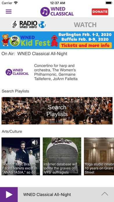 WNED Classical 94.5 screenshot two