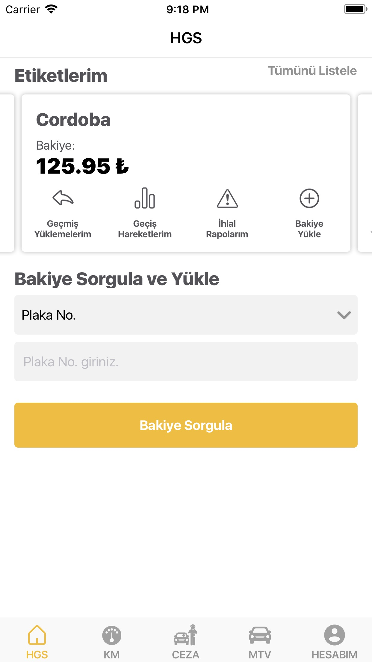 HGS - Online Bakiye Yükle Screenshot