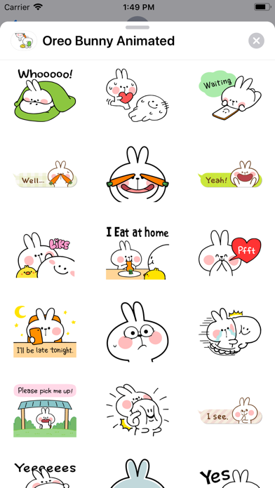 Oreo Bunny Animated screenshot 6