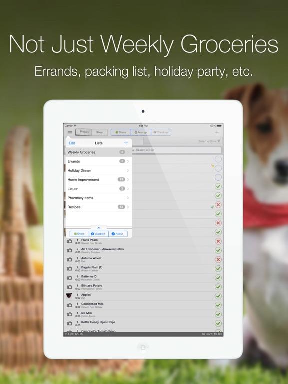 Grocery Gadget Lite iPad