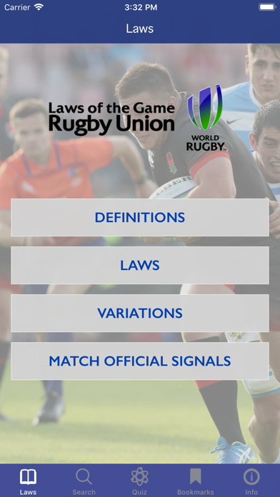 Screenshot for World Rugby Laws of Rugby in Austria App Store