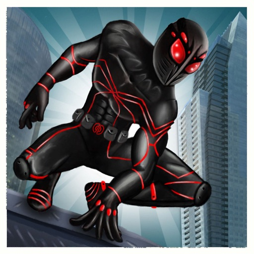 Black Spider Flying Hero