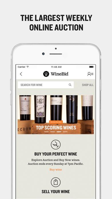WineBid screenshot one